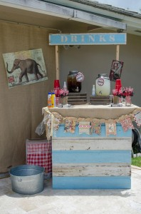 Twins First Birthday Vintage Carnival Party via Kara's Party Ideas | Kara'sPartyIdeas.com #Vintage #Carnival #Circus #PartyIdeas #Supplies #BigTop (33)