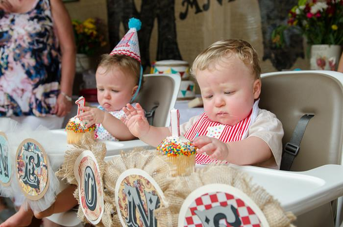 Twins First Birthday Vintage Carnival Party via Kara's Party Ideas ...