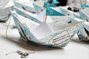 Paper Boat Christening Party via Kara's Party Ideas | Kara'sPartyIdeas.com #Nautical #Ship #BoyBabyBlessing #Party #Ideas #Supplies (26)