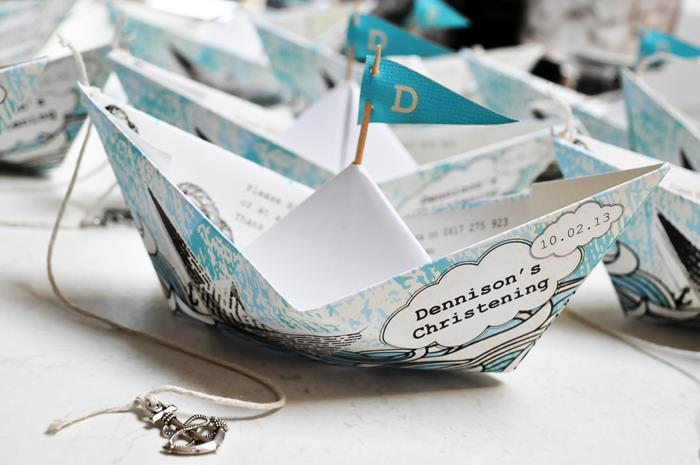 Kara S Party Ideas Paper Boat Christening Party Planning