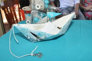 Paper Boat Christening Party via Kara's Party Ideas | Kara'sPartyIdeas.com #Nautical #Ship #BoyBabyBlessing #Party #Ideas #Supplies (16)
