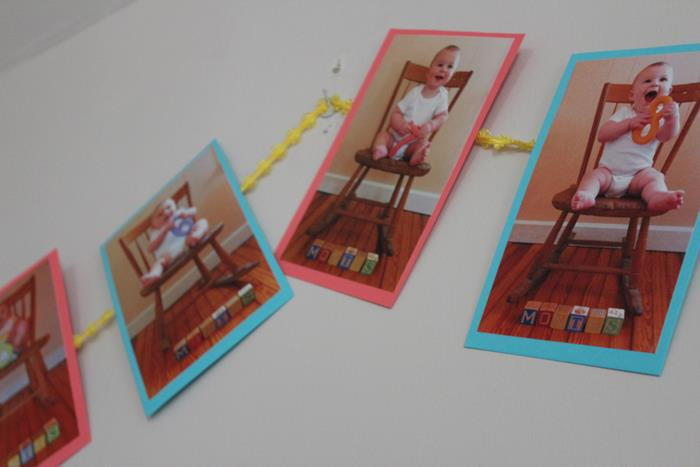 Darling DIY Birthday Decorations Using Photos via Kara's Party Ideas ...