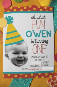 Darling DIY Birthday Decorations Using Photos via Kara's Party Ideas | Kara'sPartyIdeas.com #PhotoBanner #invitations #CuteDIYDecorations #Ideas #Supplies (4)
