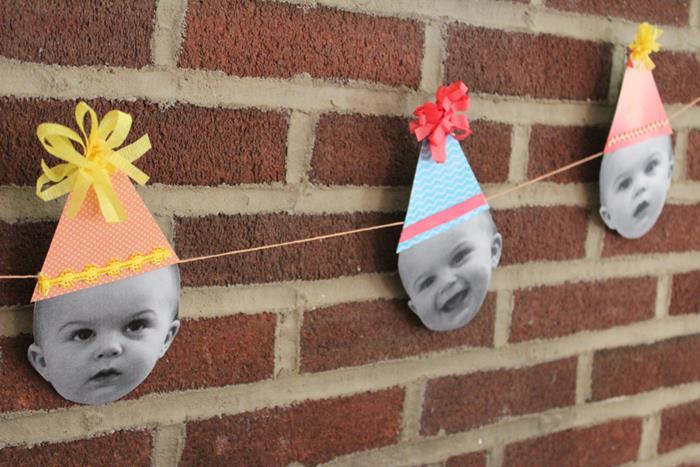 Darling DIY Birthday Decorations Using Photos Via Karas Party Ideas