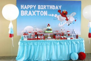 Elmo and Friends Party via Kara's Party Ideas Kara'sPartyIdeas.com #SesameStreet #Elmo #CookieMonster #BigBird #PartyIDeas #Supplies (9)