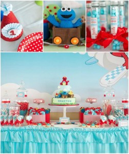 Elmo and Friends Party with LOTS of CUTE Ideas via Kara's Party Ideas Kara'sPartyIdeas.com #SesameStreet #Elmo #CookieMonster #BigBird #PartyIDeas #Supplies (1)