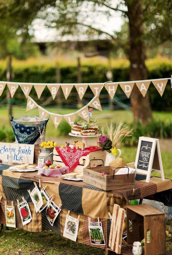 Kara 39 s party ideas farm themed birthday party via kara 39 s party ideas kara 39 - Party decorations ideas ...