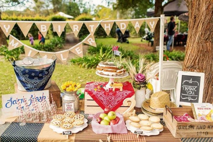 Kara's Party Ideas Farm Themed Birthday Party via Kara's Party Ideas | Kara'sPartyIdeas.com # ...