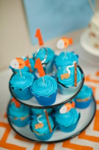 Fish Themed 1st Birthday Party via Kara's Party Ideas | Kara'sPartyIdeas.com #Goldfish #Fishing #PartyIdeas #Supplies (39)