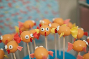 Fish Themed 1st Birthday Party via Kara's Party Ideas | Kara'sPartyIdeas.com #Goldfish #Fishing #PartyIdeas #Supplies (37)