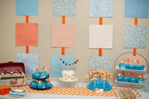 Fish Themed 1st Birthday Party via Kara's Party Ideas | Kara'sPartyIdeas.com #Goldfish #Fishing #PartyIdeas #Supplies (28)