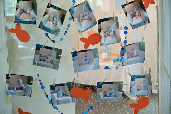 Kara 39 s party ideas fish themed 1st birthday party via kara for Fish birthday party