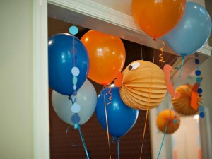 Fish Themed 1st Birthday Party via Kara's Party Ideas | Kara'sPartyIdeas.com #Goldfish #Fishing #PartyIdeas #Supplies (16)