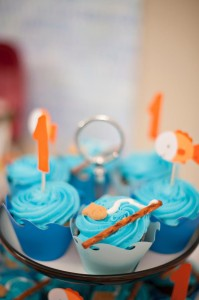 Fish Themed 1st Birthday Party via Kara's Party Ideas | Kara'sPartyIdeas.com #Goldfish #Fishing #PartyIdeas #Supplies (12)