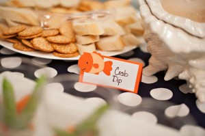Fish Themed 1st Birthday Party via Kara's Party Ideas | Kara'sPartyIdeas.com #Goldfish #Fishing #PartyIdeas #Supplies (11)