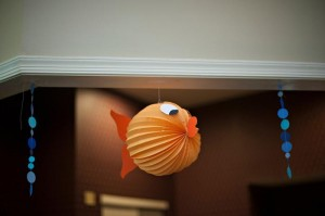 Fish Themed 1st Birthday Party via Kara's Party Ideas | Kara'sPartyIdeas.com #Goldfish #Fishing #PartyIdeas #Supplies (7)