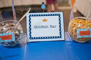 Fish Themed 1st Birthday Party via Kara's Party Ideas | Kara'sPartyIdeas.com #Goldfish #Fishing #PartyIdeas #Supplies (44)