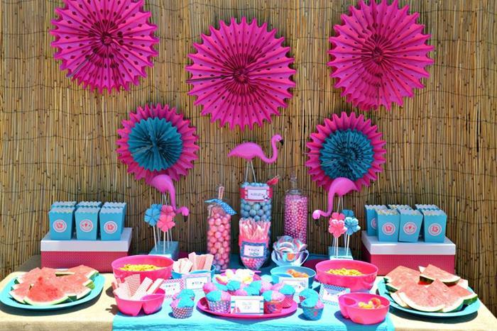 Flamingo Pool Party Via Karas Ideas