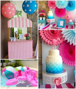 Flamingo Themed Pool Party with SO MANY Cute Ideas via Kara's Party Ideas | Kara'sPartyIdeas.com #Summer #PoolParty #Party #Ideas #Supplies (1)