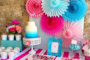 Flamingo Themed Pool Party via Kara's Party Ideas | Kara'sPartyIdeas.com #Summer #PoolParty #Party #Ideas #Supplies (6)