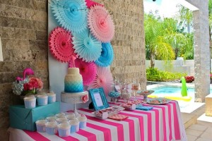 Flamingo Themed Pool Party via Kara's Party Ideas | Kara'sPartyIdeas.com #Summer #PoolParty #Party #Ideas #Supplies (4)