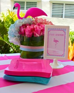 Flamingo Themed Pool Party via Kara's Party Ideas | Kara'sPartyIdeas.com #Summer #PoolParty #Party #Ideas #Supplies (2)