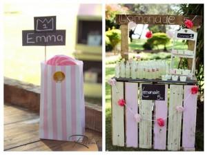 Pink Lemonade Stand with SUCH CUTE IDEAS via Kara's Party Ideas | Kara'sPartyIdeas.com #Rustic #LemonadeStand #PartyIdeas #Supplies (5)
