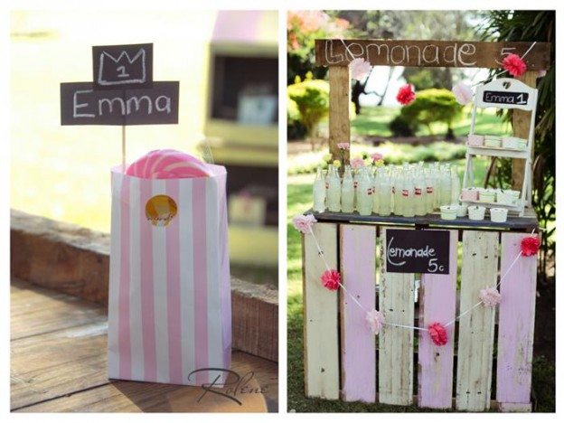 Pink Lemonade Stand with SUCH CUTE IDEAS via Kara's Party Ideas | Kara'sPartyIdeas.com #Rustic #LemonadeStand #PartyIdeas #Supplies (5)