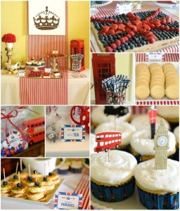 """London Calling""- A British Themed Birthday Bash FULL of CUTE IDEAS via Kara's Party Ideas 