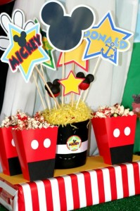 Mickey Mouse Clubhouse Party via Kara's Party Ideas Kara'sPartyIdeas.com #MickeyMouse #MinnieMouse #PartyIdeas #Supplies (13)