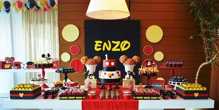 Kara's Party Ideas Mickey Mouse 1st Birthday Party via Kara's ...