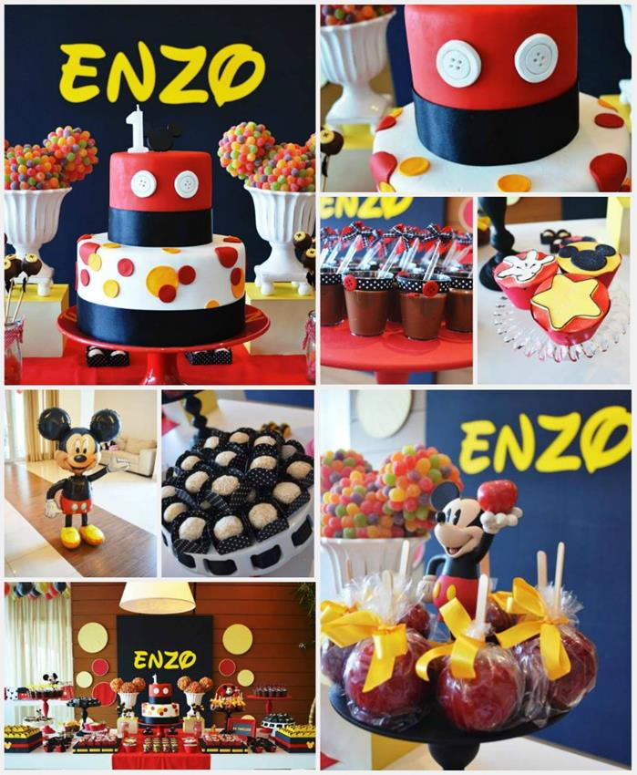 Karas Party Ideas Mickey Mouse 1st Birthday Party with So Many