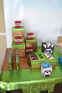 Minecraft Themed Birthday Party via Kara's Party Ideas Kara'sPartyIdeas.com #Gamer #Gaming #PartyIdeas #Supplies (46)