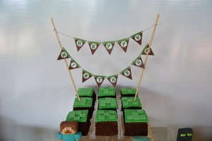 Minecraft Themed Birthday Party via Kara's Party Ideas Kara'sPartyIdeas.com #Gamer #Gaming #PartyIdeas #Supplies (34)
