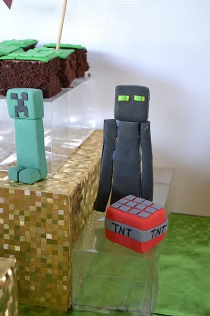 kara 39 s party ideas minecraft themed birthday party via. Black Bedroom Furniture Sets. Home Design Ideas