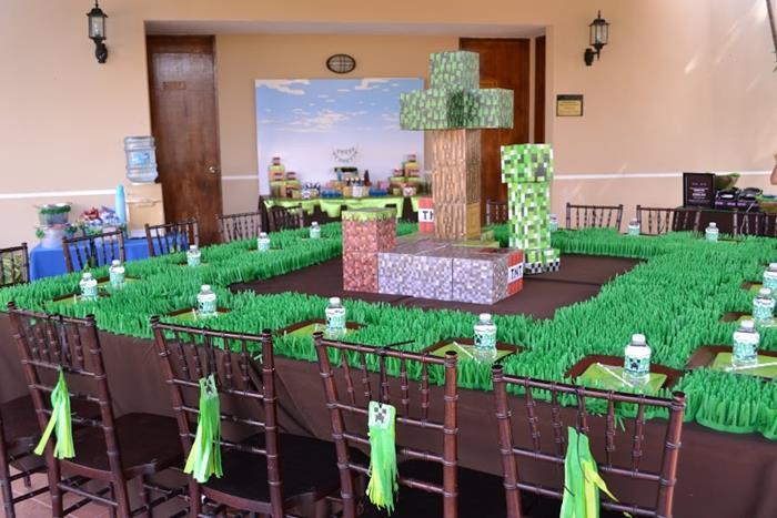 minecraft themed birthday 3 kara s ideas minecraft themed birthday