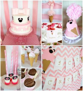 Minnie Mouse Ice Cream Party full of cute ideas via Kara's Party Ideas KarasPartyIdeas.com #minniemouse #partyideas #supplies #birthday #icecream (1)