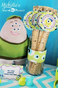Monster's University Back To School Party via Kara's Party Ideas | Kara'sPartyIdeas.com #Monster'sInc. #Disney #Partyideas #Supplies (6)