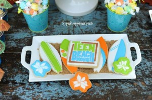 Disney Teen Beach Movie Party via Kara's Party Ideas Kara'sPartyIdeas.com #Surf #Party #TeenBeachMovie #Ideas #Supplies #Disney (10)