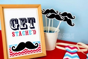 Little Man Mustache Baby Shower via Kara's Party Ideas | Kara'sPartyIdeas.com #Mustache #1stBirthday #PartyIdeas #Supplies (11)