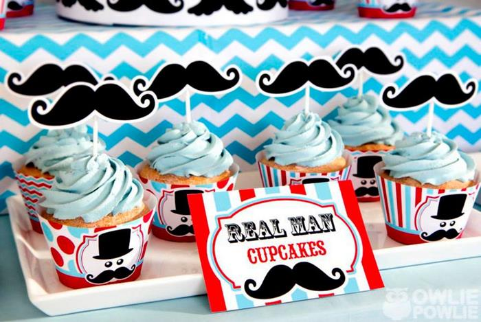 Karas Party Ideas Little Man Mustache Baby Shower Party Ideas