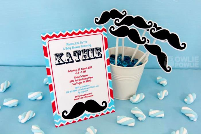 Little Man Mustache Baby Shower Via Karau0027s Party Ideas |  Karau0027sPartyIdeas.com #