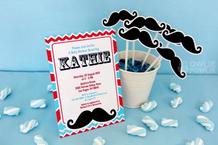 Little Man Mustache Baby Shower Via Karau0027s Party Ideas |  Karau0027sPartyIdeas.com #