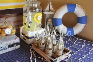 Yellow and Blue Nautical 1st Birthday Party via Kara's Party Ideas | Kara'sPartyIdeas.com #Sailboat #Sailor #PartyIdeas #Supplies (33)