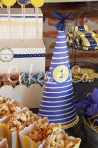 Yellow and Blue Nautical 1st Birthday Party via Kara's Party Ideas | Kara'sPartyIdeas.com #Sailboat #Sailor #PartyIdeas #Supplies (18)