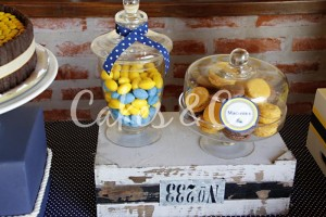 Yellow and Blue Nautical 1st Birthday Party via Kara's Party Ideas | Kara'sPartyIdeas.com #Sailboat #Sailor #PartyIdeas #Supplies (32)