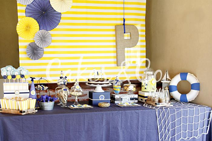 Kara S Party Ideas Yellow And Blue Nautical 1st Birthday Party Via Kara S Party Ideas Kara