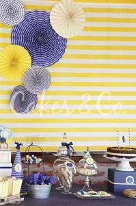 Yellow and Blue Nautical 1st Birthday Party via Kara's Party Ideas | Kara'sPartyIdeas.com #Sailboat #Sailor #PartyIdeas #Supplies (8)