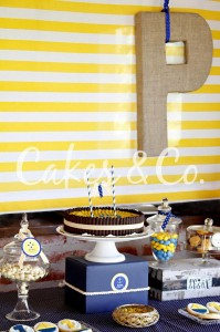 Yellow and Blue Nautical 1st Birthday Party via Kara's Party Ideas | Kara'sPartyIdeas.com #Sailboat #Sailor #PartyIdeas #Supplies (7)