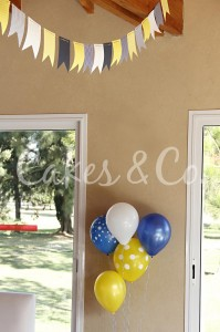 Yellow and Blue Nautical 1st Birthday Party via Kara's Party Ideas | Kara'sPartyIdeas.com #Sailboat #Sailor #PartyIdeas #Supplies (3)